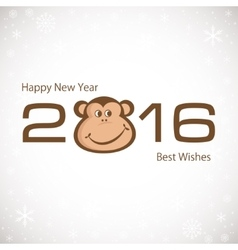 Symbol Of New Year Monkey 2016 New year card vector image vector image