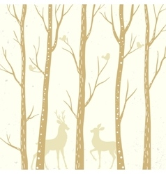 trees background vector image vector image