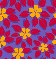 tropical pattern red leafs vector image vector image