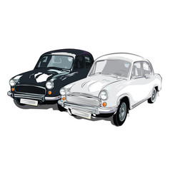 black and white colour ambassador car vector image