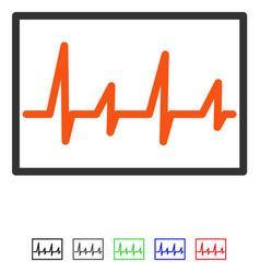 Cardiogram flat icon vector
