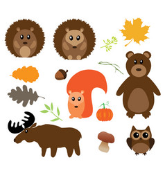 fall animals vector image vector image