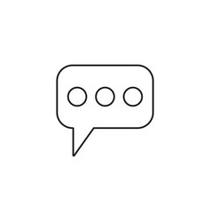 message and speech bubbles line icon modern sign vector image