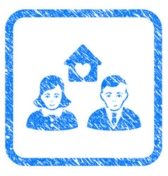 People marriage framed stamp vector