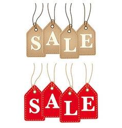 Retro Paper Sale Tags vector image