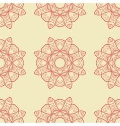 Seamless print abstract symmetrical doodle vector
