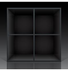 shelf black vector image vector image