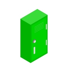 Student locker icon isometric 3d style vector image
