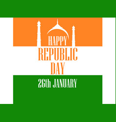 26 january republic day india the text of vector image