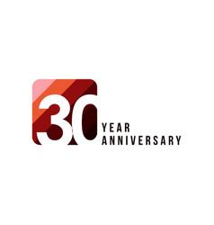30 year anniversary template design vector