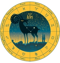 Aries signs of the zodiac vector