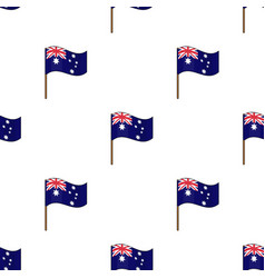 australian flag icon in cartoon style isolated on vector image
