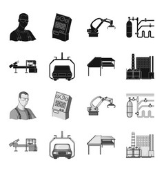 automotive industry and other web icon in black vector image