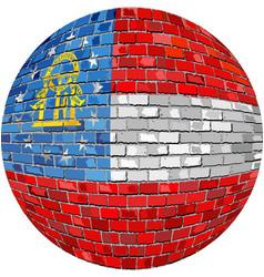 Ball with georgia flag vector