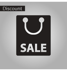 Black and white style icon Package sale vector