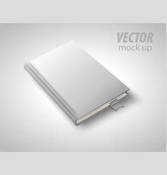 Blank book isolated on white to replace your vector