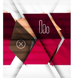 Blocks geometric abstract background vector image