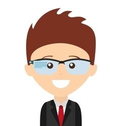 Businessman man smile icon vector