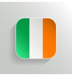 Button - Ireland Flag Icon vector image