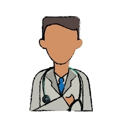Cartoon doctor healthcare professional clinic vector