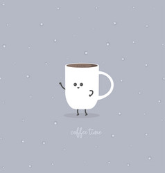 Coffee time with cup vector