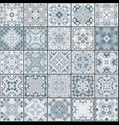 Collection of different vintage tiles vector