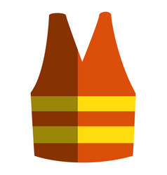construction jacket isolated icon vector image