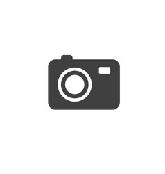 dark gray photo camera icon isolated on white vector image