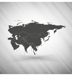 Eurasia map on gray background grunge texture vector