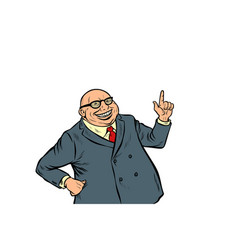 experienced businessman boss successful business vector image