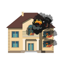 fire insurance colourful vector image