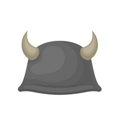 flat icon of gray metal helmet with animal vector image
