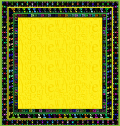 Frame and yellow square vector