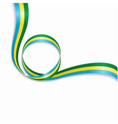 gabon wavy flag background vector image