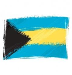 grunge Bahamas flag vector image