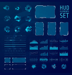 hud elements collection set graphic abstract vector image