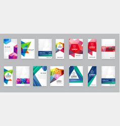 huge set of visual identity with letter logo vector image