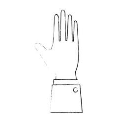 human hand symbol vector image