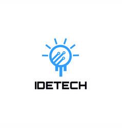 idea tech logo vector image