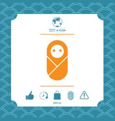 Infant neonate newborn icon vector
