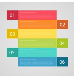infographics options banner can be used vector image
