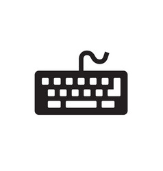 Keyboard computer - black icon vector