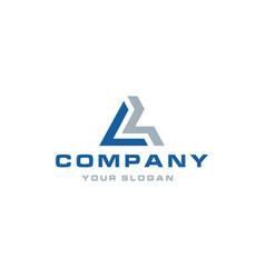 letter logo design inspiration vector image
