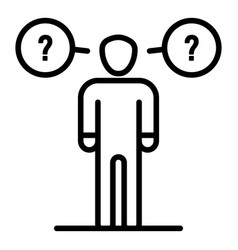 Man haves questions icon outline style vector