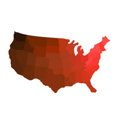 map united states with regions vector image