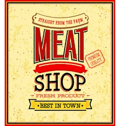 Meat shop design vector image