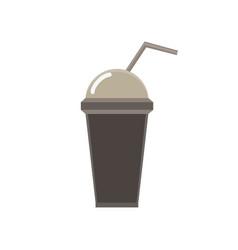milkshake milk shake chocolate glass cream vector image