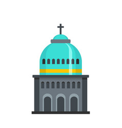 Muslim church icon flat style vector