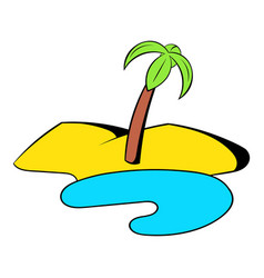 Oasis in the desert icon cartoon vector