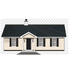 One-story wooden house vector